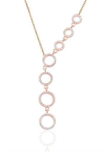 Söğütlü Silver Gümüş Rose Zirkon Taşlı Kayan Halkalar K Pembe